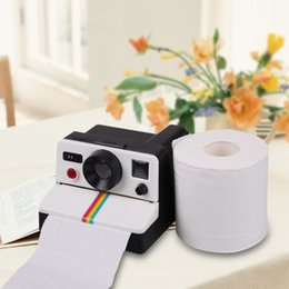 Wholesale Toilet Cameras - Wholesale- 1 Piece Vintage Retro Camera Shape Toilet Roll Paper Dispenser Plastic Bathroom Paper Tissue Storage Box Holder