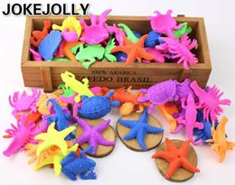 Wholesale Bulk Rubber - Wholesale- 20pcs Growing In Water Bulk Swell Sea Creature Expansion Toy Colorful Puzzle Creative Magic Toys for children GYH