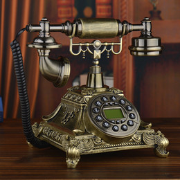 2019 telefono ufficio d'epoca il telefono cellulare senza fili della carta è un telefono di telefono di casa d'epoca rurale d'annata della linea telefonica creativa antica europea del telefono di chiamata telefono ufficio d'epoca economici