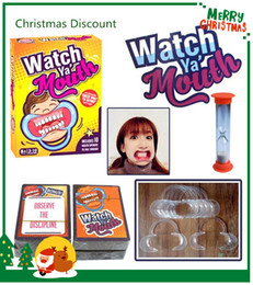 Wholesale family christmas cards - Best Christmas Celebration 10set Party Game Board Game Watch Ya Mouth Game 200cards 10 mouthopeners Family Edition Hilarious Mouth Guard