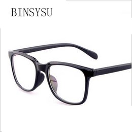 Wholesale Tv Mirror Glasses - Wholesale- Big Frame Fashion Against Radiation computer glasses optical eyeglasses frames men women Plain mirror For TV PC Computer Laptop
