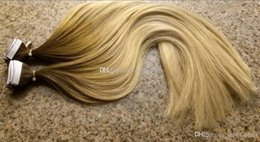 """Wholesale Seamless Weft Extensions - T#4 613 color Fashion Keratin Fusion Seamless Skin Weft Hair Extension 40P100g 16""""-24"""" Straight Invisible Ombre Tape In Hair Extensions"""