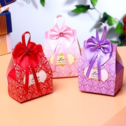 Wholesale Card Backing Papers - gift boxes favor boxes candy boxes wedding favor gift candy box gift box party with bow
