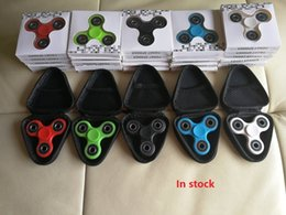 Wholesale Key Box Toy - High quality Cheap Fidget Spinner Case Hand Spinner toys box 3 types Triangle Rectangle Round Live Storage pouch key phone cable bag DHL