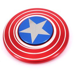 Wholesale Wholesalers America - New Captain America Shield Hand Spinner The Anti-Anxiety 360 Spinner Fidget Toy Helps Focusing for Kids & Adults Stress Reducer Hand Spinner