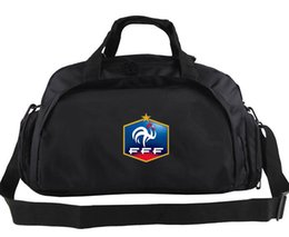 Wholesale France Soccer Team - France duffel bag Soccer team hand tote Quality FFF backpack Football luggage Sport shoulder duffle Outdoor sling pack