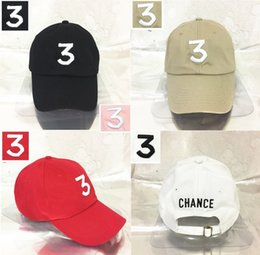 Wholesale Bears Red - Embroidered chance the rapper 3 Hat Black Baseball Cap Fashion kanye west bear dad caps casquette hip hop Strapback sun drake ovo hats