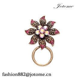 Wholesale New China Style Shirt - 100pcs lot 2017 China Wholesale New Design Women Vintage Style Flower Eyeglass Holder Brooch Pin Jewelry for Shirt