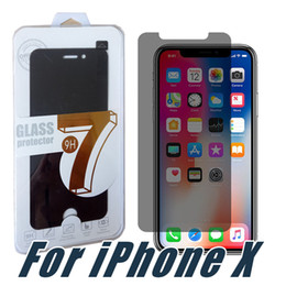 Wholesale Screen Protectors Privacy - For iPhone X Privacy Screen Protector Shield Anti-Spy Peeping Real Tempered Glass For iPhone 8 7 6 5 Plus