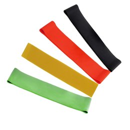 Wholesale Body Exercise Equipment - 4pcs 4 Levels Rubber Resistance Bands Set Exercise Equipment Body Building Latex Pull Rope Fitness Yoga Strength Band