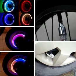Wholesale Motor Bike Brands - New 1 Pair LED Motor Cycling Bike Bicycle Car Wheel Tire Valve Wheel Lights New Brand