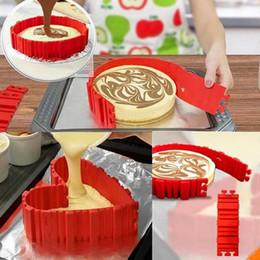 Wholesale Square Baking Moulds - New 4 Pcs set DIY Silicone Cake Baking square rectangular Round Shape Mold Magic Bakeware Bake cake snakes mold