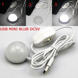 Wholesale Led Eye Bulbs - Wholesale- New design DC5V 2W LED USB Mini Bulb For Book Desk Reading Eye Protective Camping Bulb Night light with Switch ON   OFF