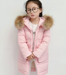 Wholesale Skirt Woman Fashion Korea - Tide fashion girl child version long thick winter coat girls down cotton new kids in South Korea