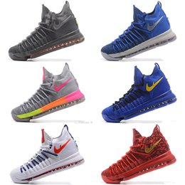 Wholesale Racer Back Sport - Wholesale Basketball Shoes KD 9 Elite Racer Pink Dust Hyper Orange Grey MULTI-COLOR Summer Pack Ivory Black Welcome Back PE Sport Sneakers