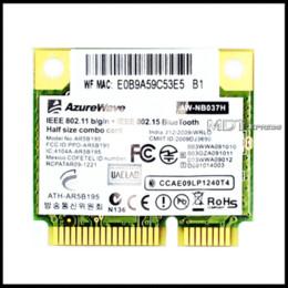 2019 wifi atheros Новый! AzureWave драйвер для сетевой карты Atheros AR3011 AR9285 AR9002WB-1NGCD PA3894U половина мини PCIe подключения Беспроводной Bluetooth комбо карты дешево wifi atheros
