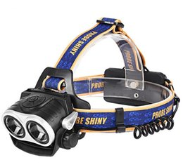 Wholesale Cree Night Light - 2017 New outdoor cycling mountain led charging strong baldheaded light double cree 2* T6 head light headlamp night fishing headlights