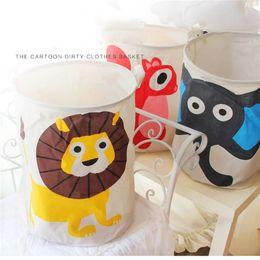 Wholesale Modern Kids Clothing Wholesale - Cartoon Storage Baskets Bins Kids Room Toys Lion Monkey Storage Bags Bucket Clothing Organizer Laundry Bag Organizer Laundry Bucket 0703152