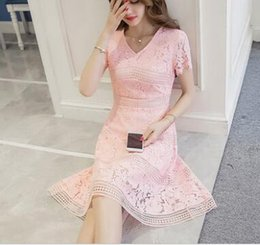 Wholesale Korean Fashion Wear For Summer - 2017 women's wear south Korean fashion new v-neck lace dress for summer dresses,Women's Clothing,Casual