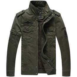 Wholesale Military Style Black Jacket Men - Military Jacket Men Military Style Jackets For Men Mens Army Jackets And Coats Chaqueta Hombre Veste Homme Cazadoras Hombre.DA04