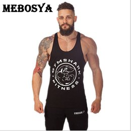 Wholesale Wholesale Blank Tanks - Wholesale- Blank bodybuilding Tank Tops Men Muscle Tank Top Brand Loose Vest Clothing Sleeveless Undershirt Comfortable Vest