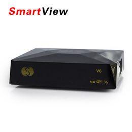 Wholesale Usb Av Receiver - S-V6 Mini Satellite Receiver with AV HDMI output Support WEB TV USB Wifi 3G Biss Key S-V6 Set Top Box