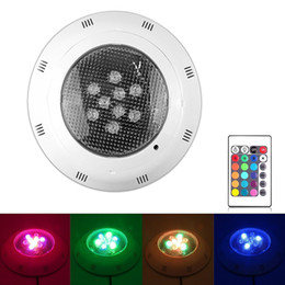 2020 luces led spa piscina Piscina subacuática SPA 9W LED brillante luz colorida RGB IR Control remoto 12w 15w 18w