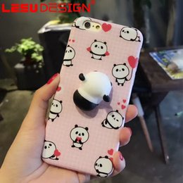 Wholesale Mobile Phone Pouches Cartoon - 2017 mobile cover 3d cartoon case for iphone cartoon silicone phone case for stress resistance free shipment