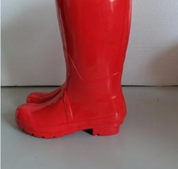 Wholesale Tall Red Rain Boots - Wholesale- [ Nai Rui ]2016 Women's Brand Low Heels Tall Rain Boots(Wellies),High Style Rain boots,Women Fashion Water Shoes Free Shipping