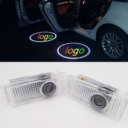 Wholesale Led Car Logo Lamps - For Mercedes Benz CLA CLS Class CLA200 CLA220 CLA260 W218 X218 1Pair LED Car door welcome light door logo emblem Courtesy Lamp