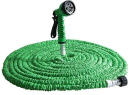 Wholesale Nozzles For Expandable - 7 in 1 Magic Expandable Flexible Water Garden Hose Plastic Hoses Pipe With Spray Gun For Watering 25FT 50FT 75FT 100FT