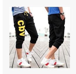 Wholesale Hot Capri Pants - Wholesale-2016 Hot Sale!! Summer Fashion 3 Colors M-XXL Casual Loose Mens Capri Cropped Short Pants Sweatpants Jogger Shorts Men