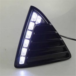 Wholesale Daytime Running Led Ford Focus - Car Flashing for Ford Focus 3 2012 2013 2014 LED DRL Daytime Running Light Daylight Waterproof Signal lamp car Styling lights