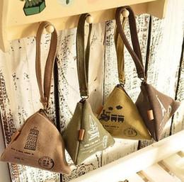 Симпатичные китайские кошельки онлайн-Рука монета кошелек сумка китайский рис клецки модель ретро симпатичные холст кошельки женщины дети портмоне