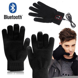 Wholesale Talking Glove - Smart Bluetooth Glove Wireless Touch Screen Talking Magic Gloves Bluetooth Headphone With Mic For iphone 6 plus samsung
