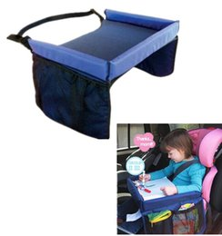 Wholesale Wholesale Black Boards - 2017 new Baby On the go waterproof play n Snack Tray Safety Seat Snack Play N Travel Tray Kid Lap Board Table Pushchair childeren