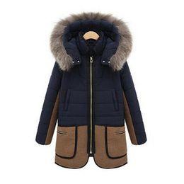 Wholesale Womens Winter Parka Warm - Brand New Fashion Womens Warm Winter Coat Fur Hooded Parka Thicken Overcoat Jacket Outwear 1 Pcs Free Shipping[CWD0004]