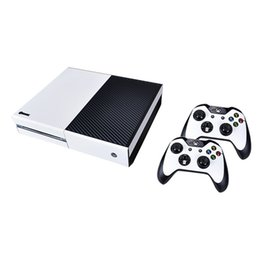 Wholesale Xbox One Skins - Carbon Fiber Skin for XBOX One 2 Console Controller + 1 Protector Sticker Cover
