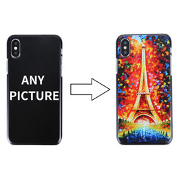 Wholesale Iphone Cover Personalized - Personalized Cases Logo Photo Hard PC Marble Pattern Case for iPhone X Shell Phone Case Cover