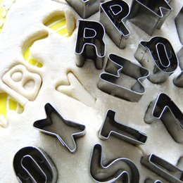 Wholesale Numbers Cookie Cutters - Kitchen Accessories 26PCS SET Large Fondant stainless steel Alphabet Letter Number Mold Cake Decorating Tools Set Baking Cookie Cutter