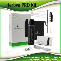 Wholesale Screen Pens - Authentic Airis Herbva Pro Herbal Vaporizer Pen Starter Kits 2200mAh Smart Vape Kit With Touch Screen Ceramic Baking Chamber 100% Original