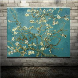 Wholesale Blossom Tree Pictures - New Hand Painted Canvas Blossoming Almond Tree Pictures Of Abstract Oil Painting On Canvas Wall Art Picture For Home Decoration