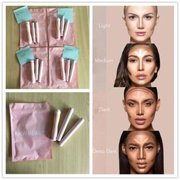 Wholesale Wholesale Cream Makeup - 2017 New kylie cosmetics KKW BEAUTY cosmetic Highlighters stick contours Stick contour with brush Cream Contour Kim Kardashian in 1 makeup