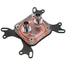Wholesale 1156 Base - Wholesale- 50mm CPU Water Cooling Block Water Cooler Copper Base Cool Inner Channel Waterblock For Intel 775 1155 1156 1366 LGA 1150 AM3