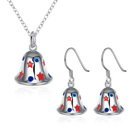Wholesale Happy Anniversary Gifts - [Happy Festival Atmosphere] Christmas theme - gift necklace earrings & Bells and necklace earrings two - piece jewelry wholesale