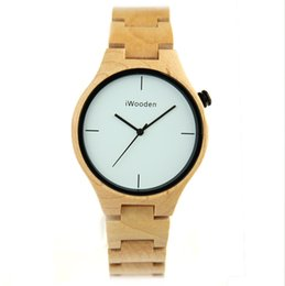 Wholesale Movement Miyota - New Arrival Men's Wristwatches Bamboo Watches for Men Luxury Wood Watches with Japan MIYOTA 2035 Movement Drop Shipping