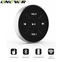 Wholesale Remote Control For Steering Wheel - Wireless Bluetooth Media Remote Steering Wheel Remote Mobile MP3 Music Play for Car Motorcycle Bike Control Car-styling Kit