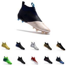 2019 zapatos de fútbol de corte alto KITH x Ace 17+ PureControl Zapatillas de fútbol GOLD Camo high tops Botas de fútbol de dragón Calcetín exterior Paul Pogba Capsule Angkle Calzado deportivo FG