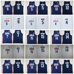Wholesale Kevin Thompson - 2016 Dream Team Twelve 7 Kyle Lowry 5 Kevin Durant USA Jersey 8 Harrison Barnes 9 DeMar DeRozan 11 Klay Thompson 15 Anthony 13 Paul George