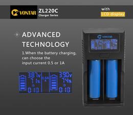 2019 cargador sony vtc4 Cargador de batería inteligente LCD VONTAR ZL220C Smart Cargador USB para 26650 18650 18500 18350 17670 16340 14500 10440 batería de litio Cargador